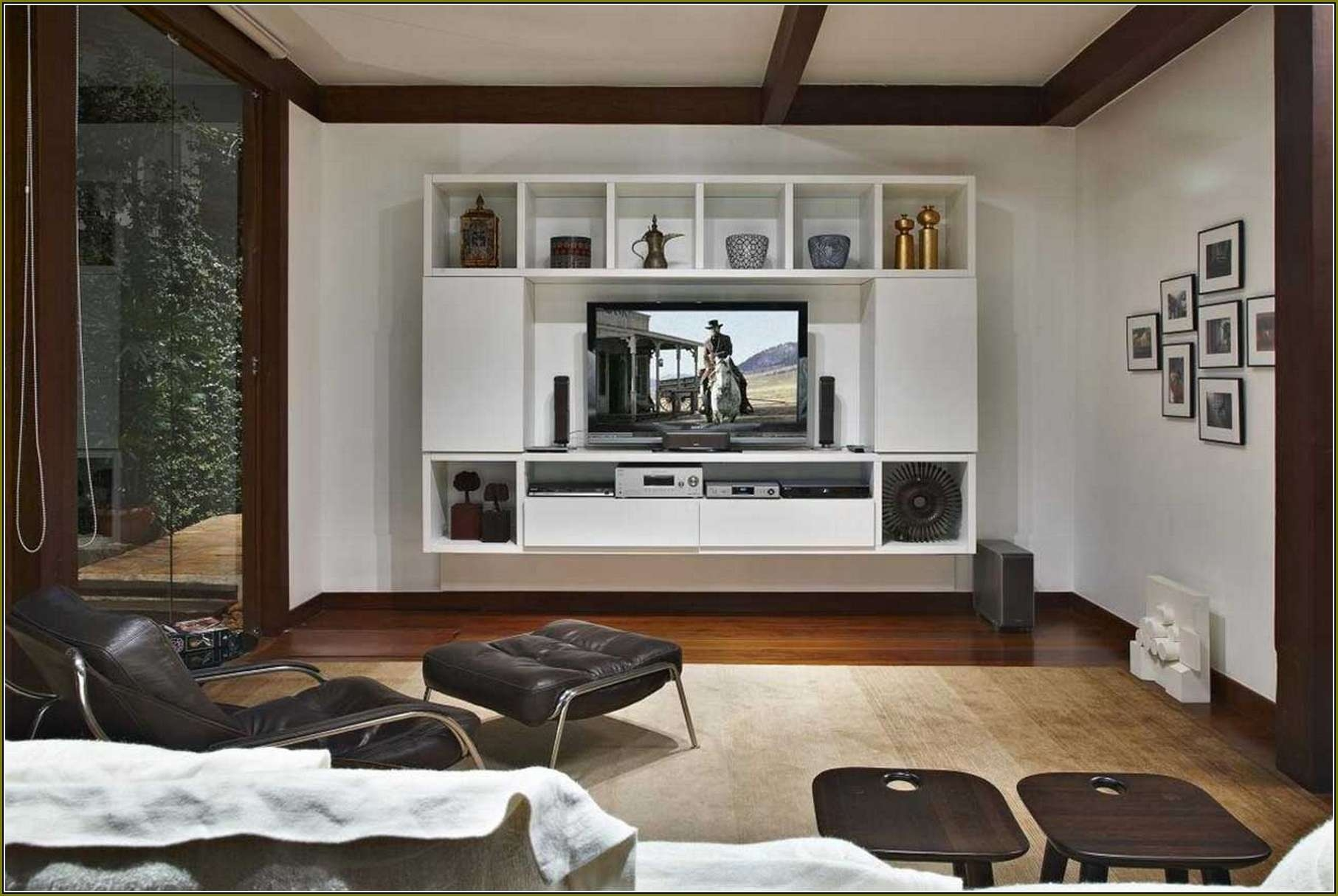 Flat Screen Tv Setup Ideas 20 Photos Wall Mounted Tv Cabinets For Flat Screens