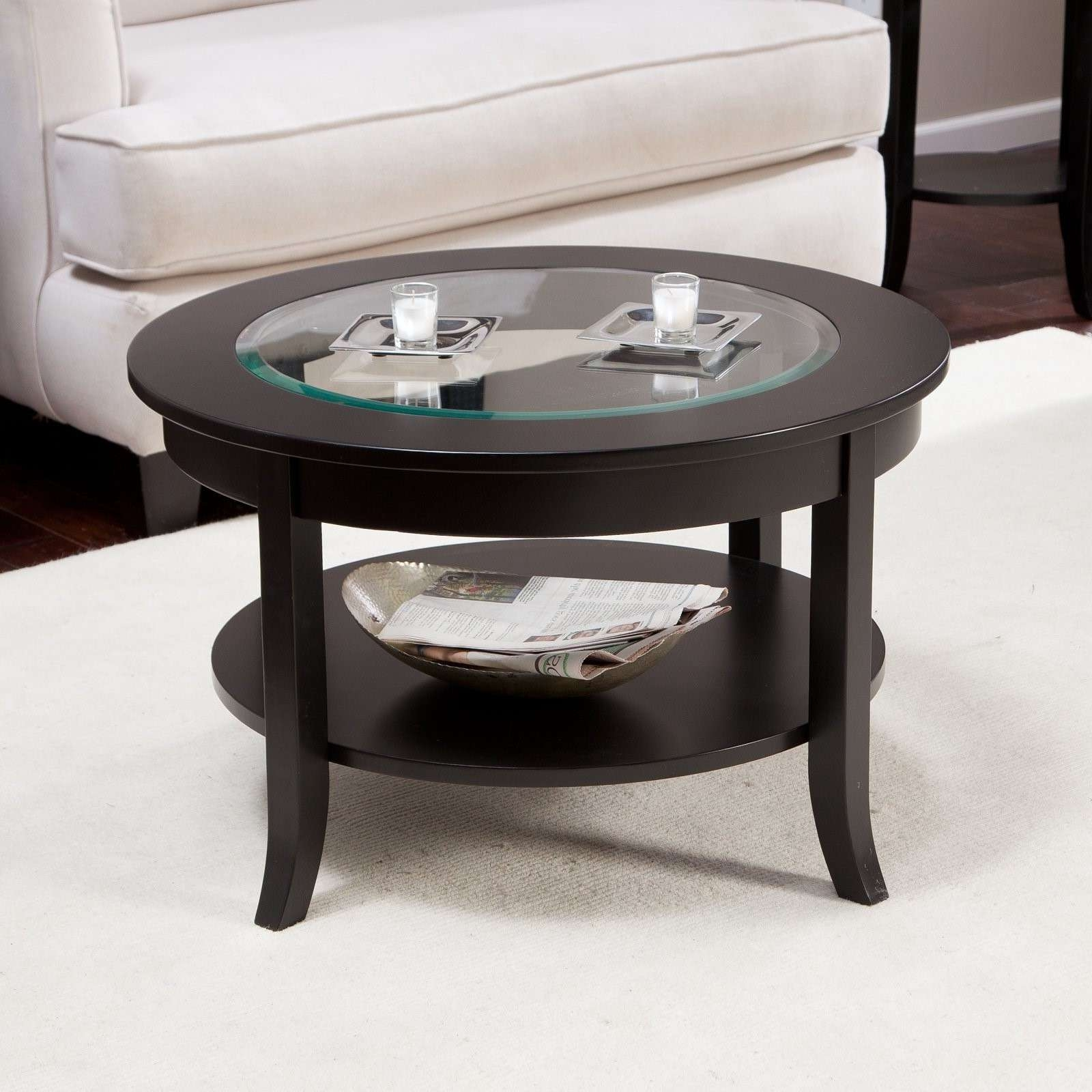 Black Coffee Table Modern 20 Photos Small Coffee Tables With Shelf