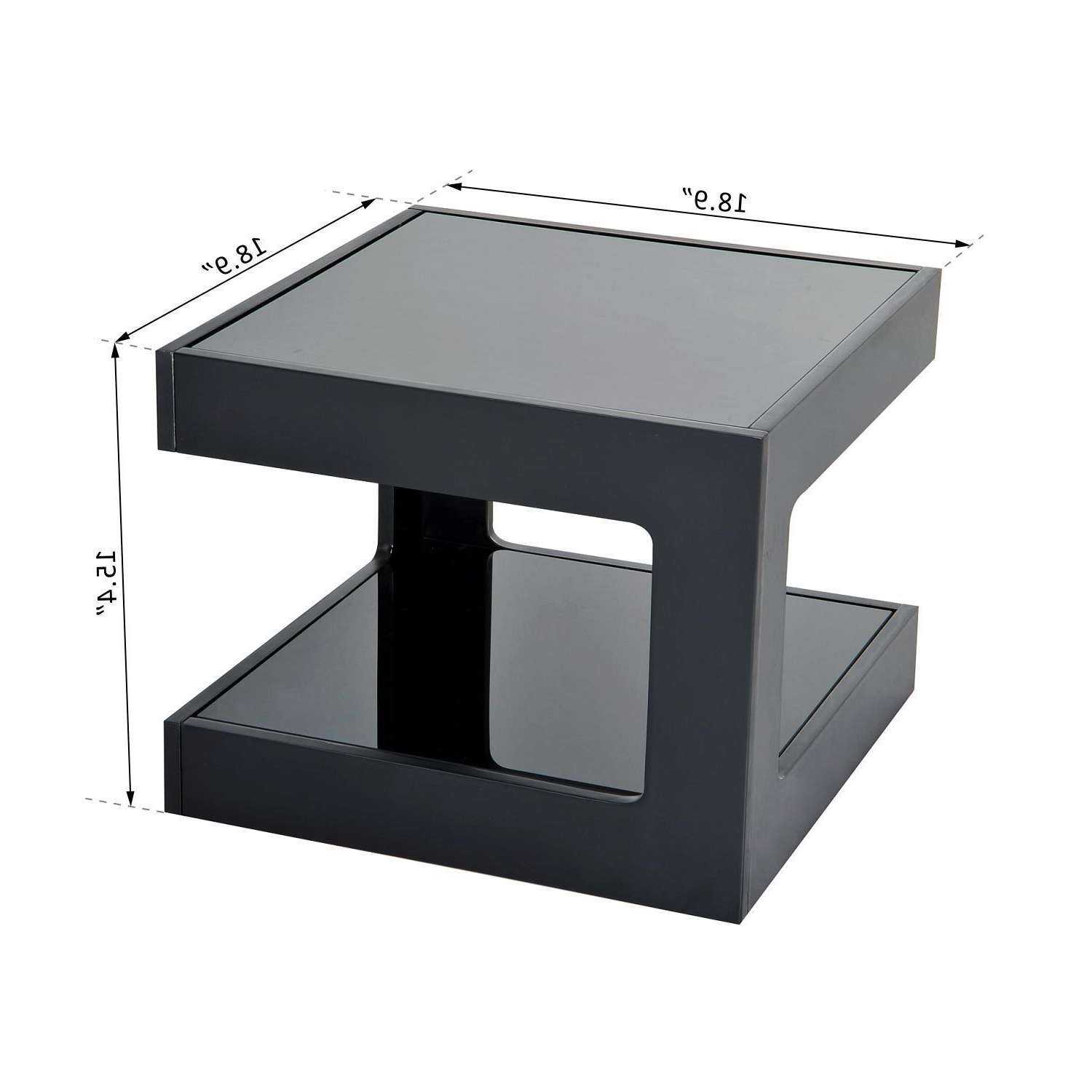 Square Glass End Tables Displaying Photos Of White Cube Coffee Tables View 12 Of