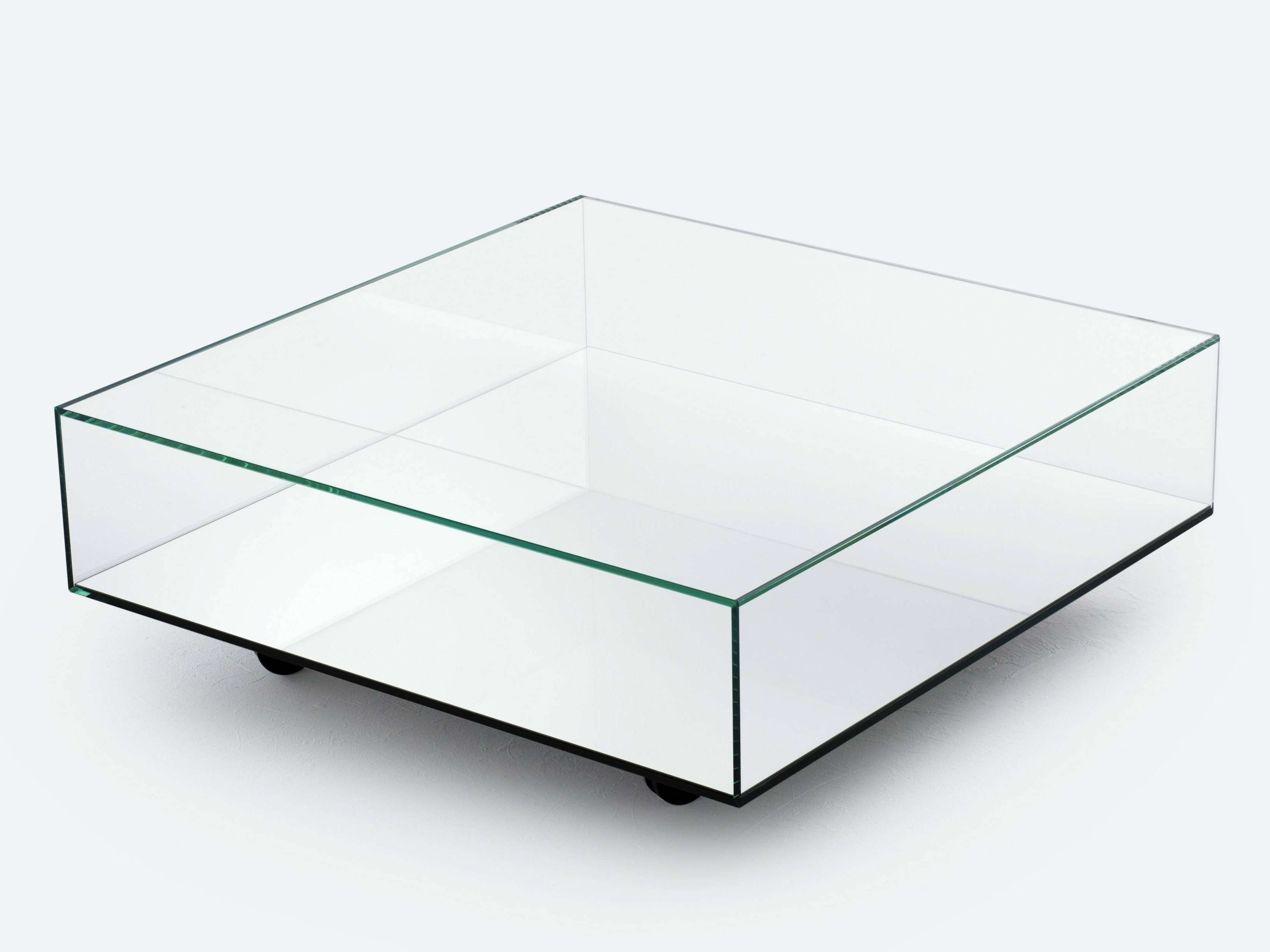 Square Glass Coffee Table With Shelf Black Contemporary End Tables