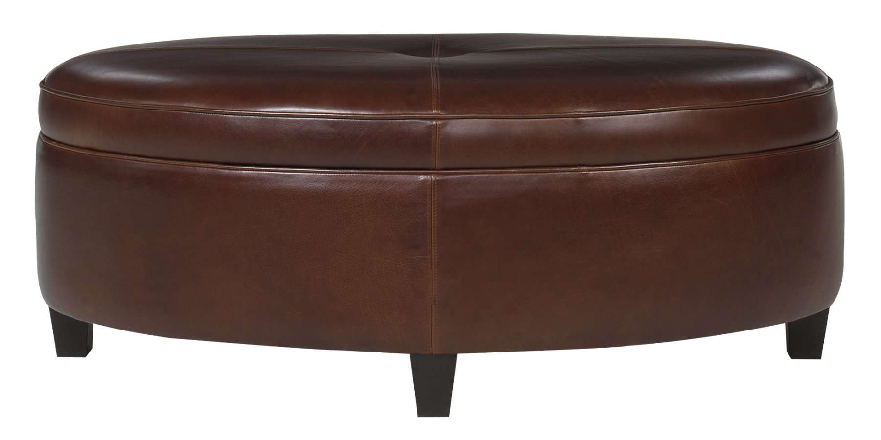 Brown Leather Coffee Table Ottoman 2019 Popular Brown Leather Ottoman Coffee Tables With Storages