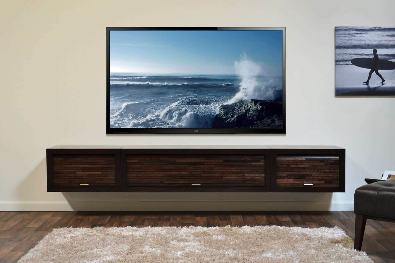 Hanging Media Console 20 Best Wall Mounted Under Tv Cabinets