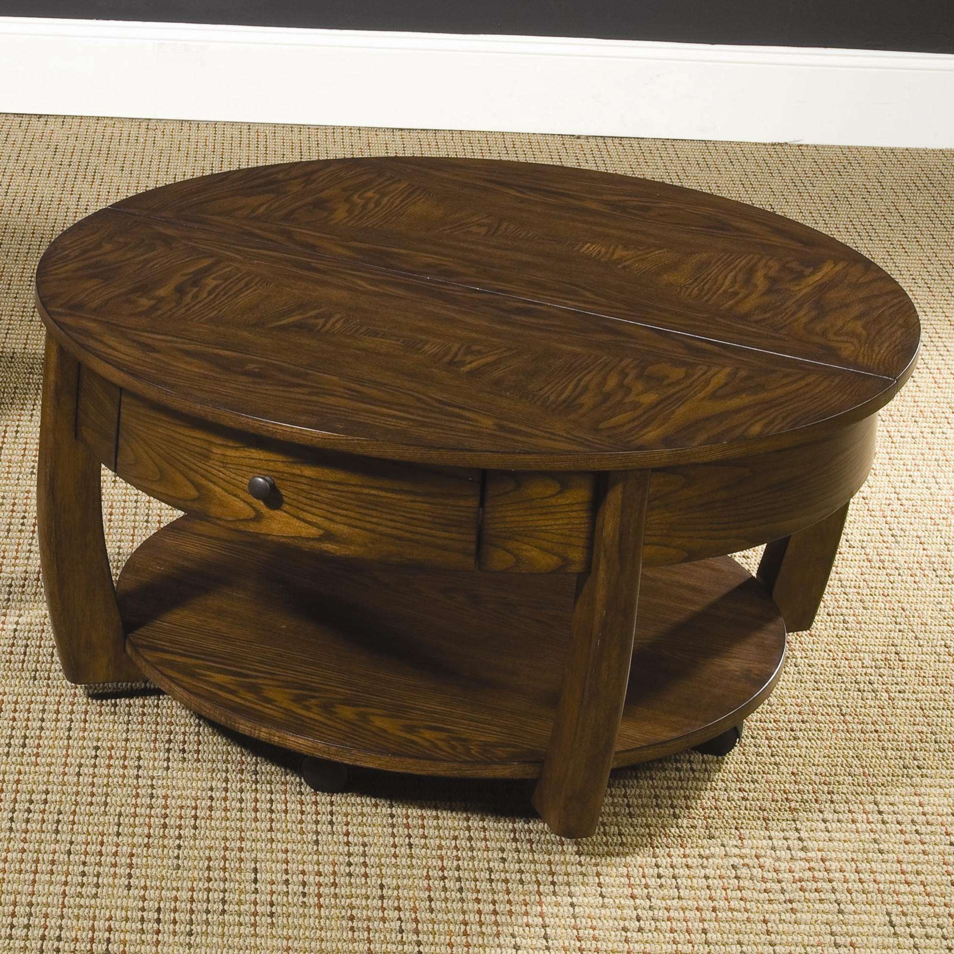 Round Coffee Table With Drawers 20 Best Collection Of Round Coffee Tables With Drawer