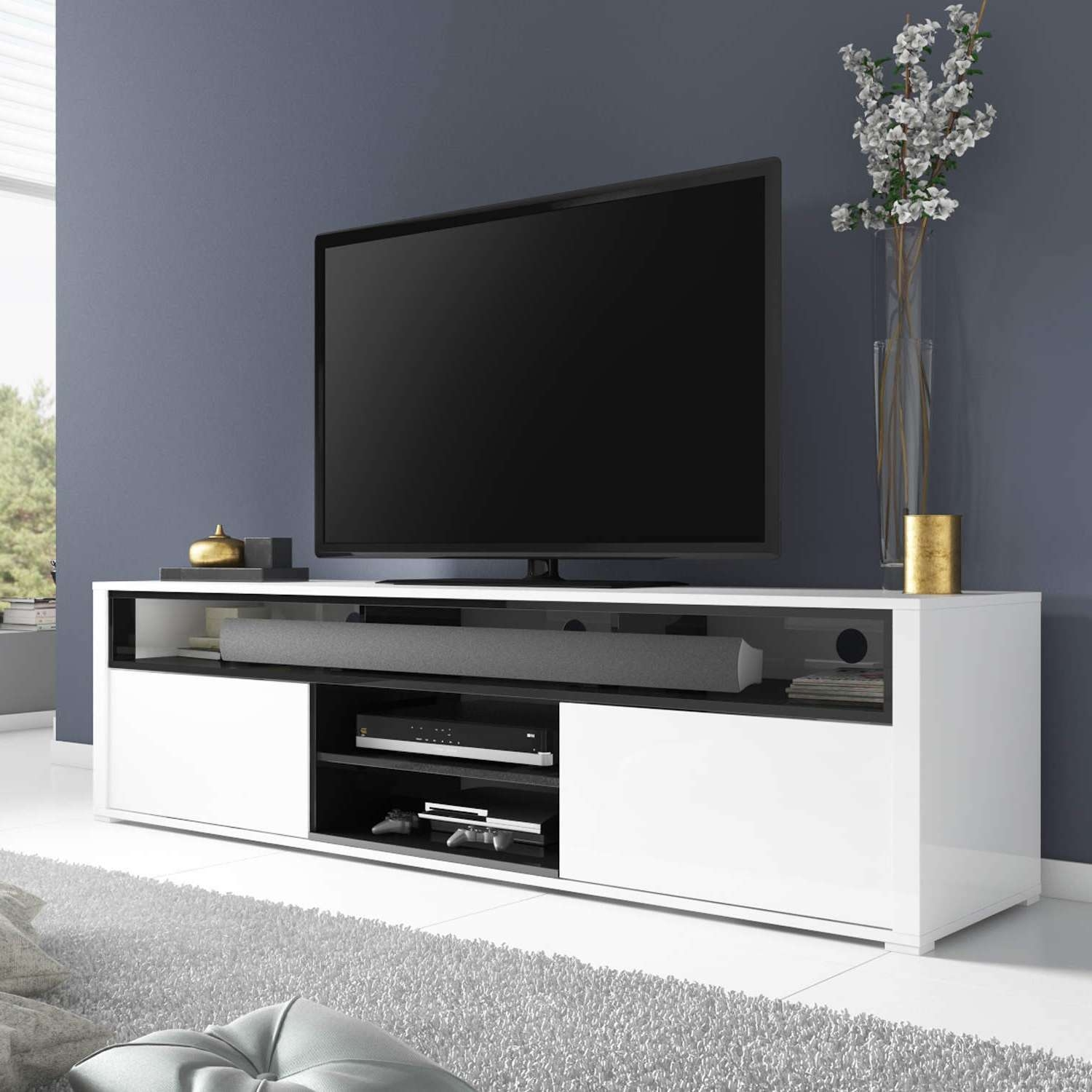 White Tv Stand 20 The Best Tv Cabinets Gloss White