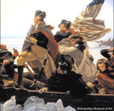 Black Man with Washington Crossing the Delaware
