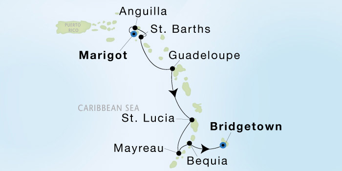 SeaDream Yacht Club Marigot to Bridgetown - SeaDream II