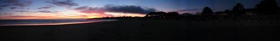 Seadrift Sunset Panorama - Click to enlarge photo