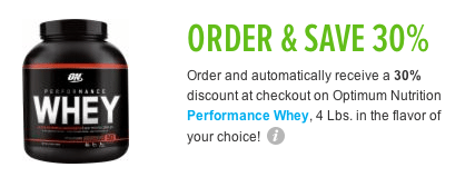 Optimum nutrition coupon code