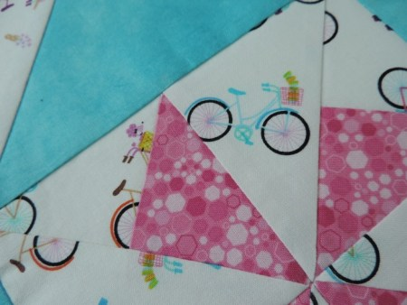 close up of bicycle fabric