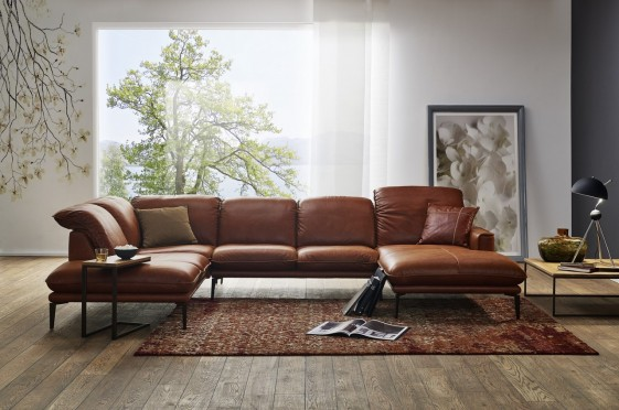 Ledercouch Relaxfunktion Grand Canapé Design En U Cuir Adoration.tm
