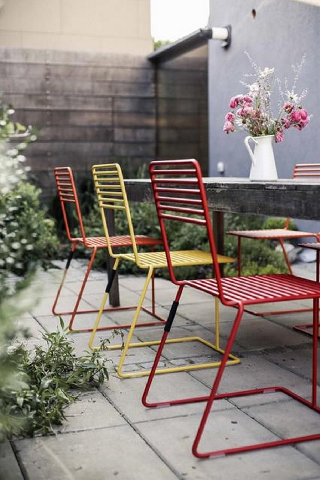 Table De Jardin Acier Et Bois