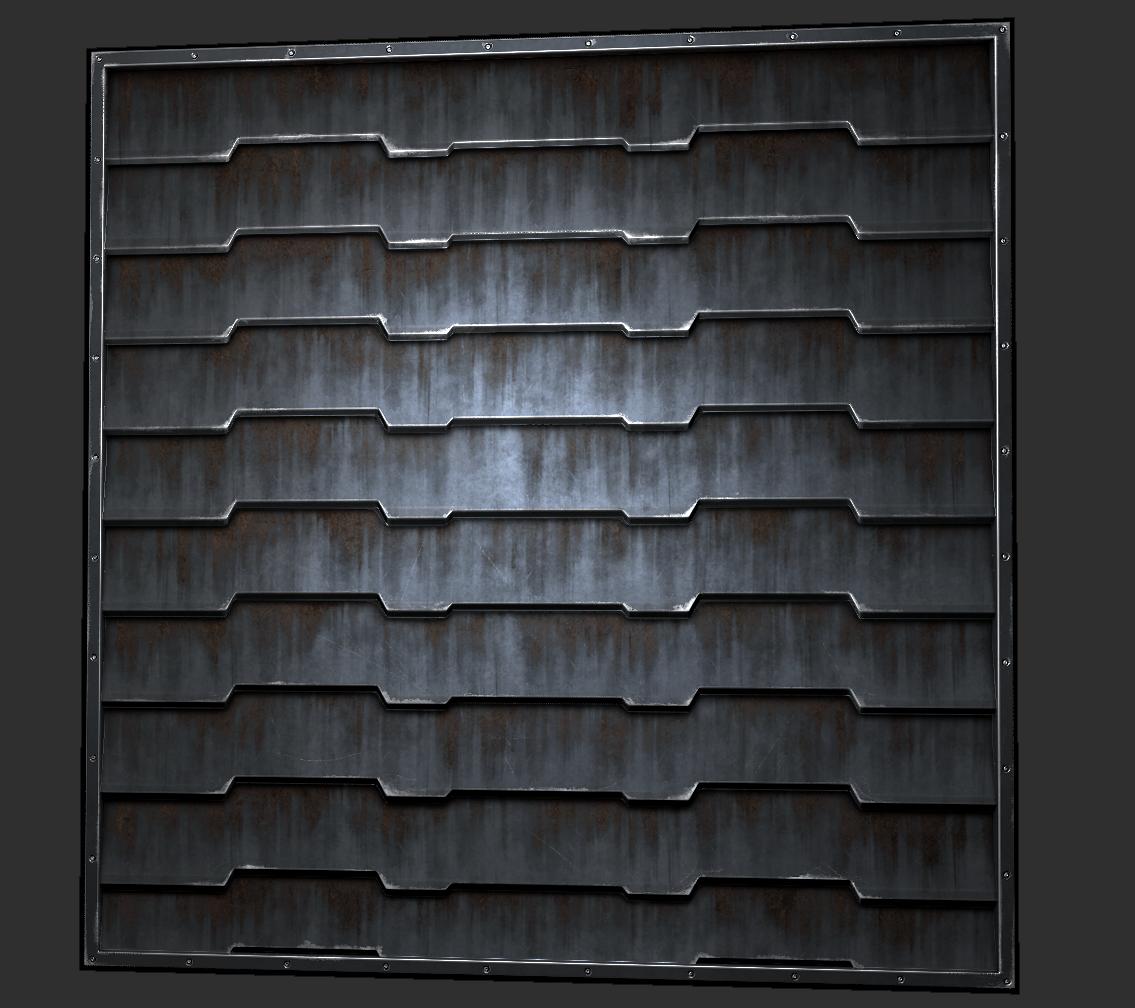 Black And White Feature Wall Wallpaper Modular Metal Textures Sean Vangorder 3d Artist