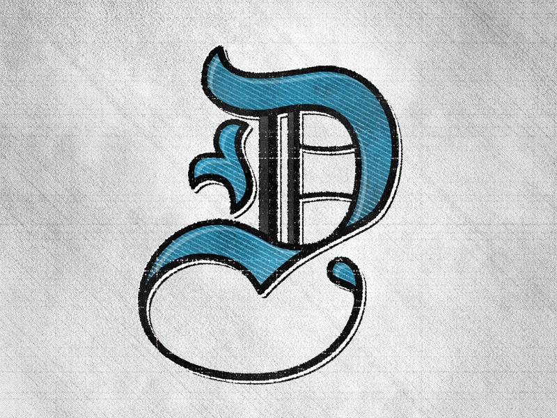 Letter D hand lettering by seanwes
