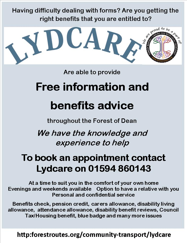 Lydcare Your Circle - attendance allowance form