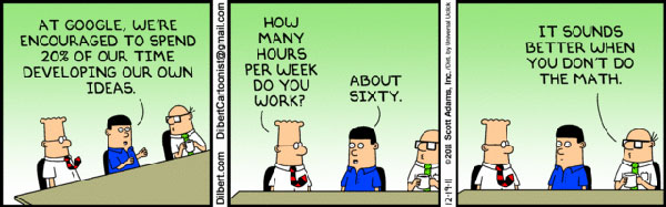 Make Resume Writing Easy With Google Resume Templates New Dilbert Comic Mocks Google Employee 20 Time