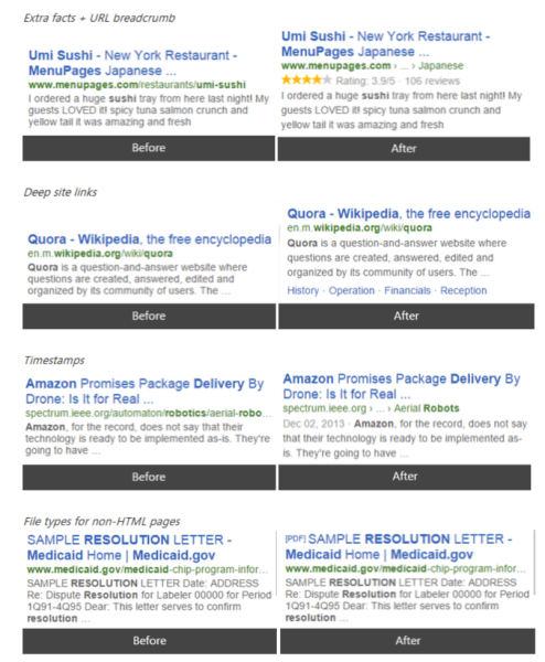 Bing mobile search updates