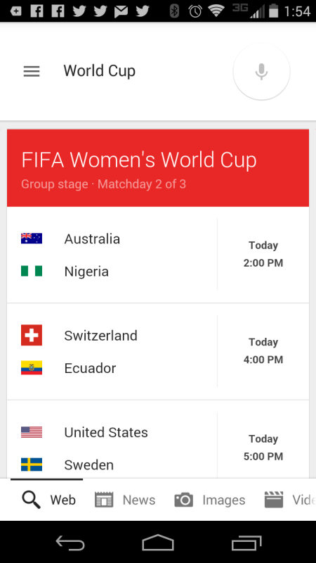 fifa women google mobile