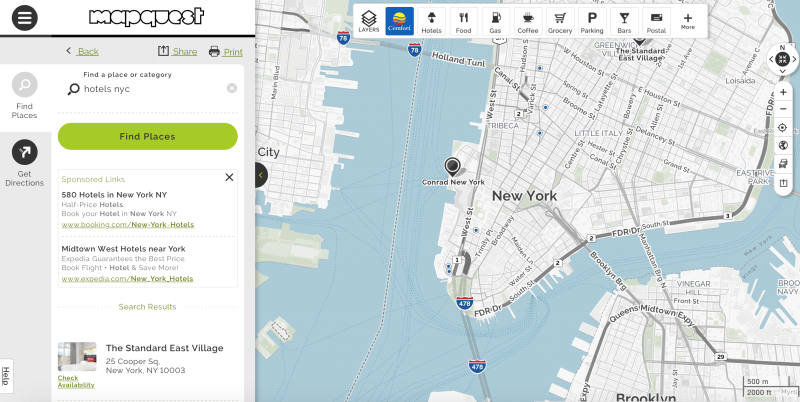 Mapquest UI upgrade 9-15