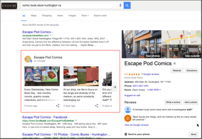 Google Posts are going to kill (at) local SEO