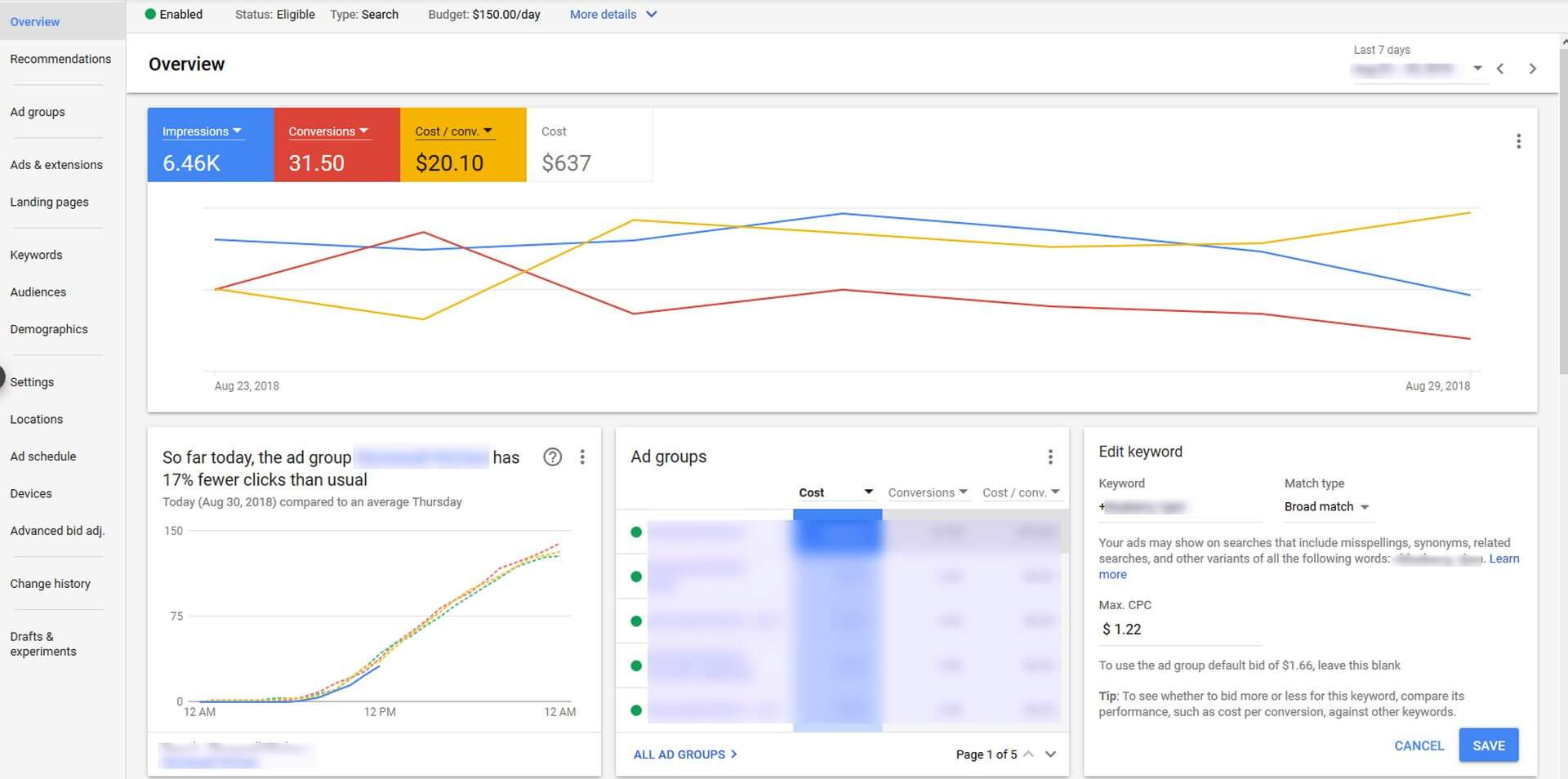 Google Adwords Keywords Now You Can Make Edits To Keywords Ads Campaigns Bids Right