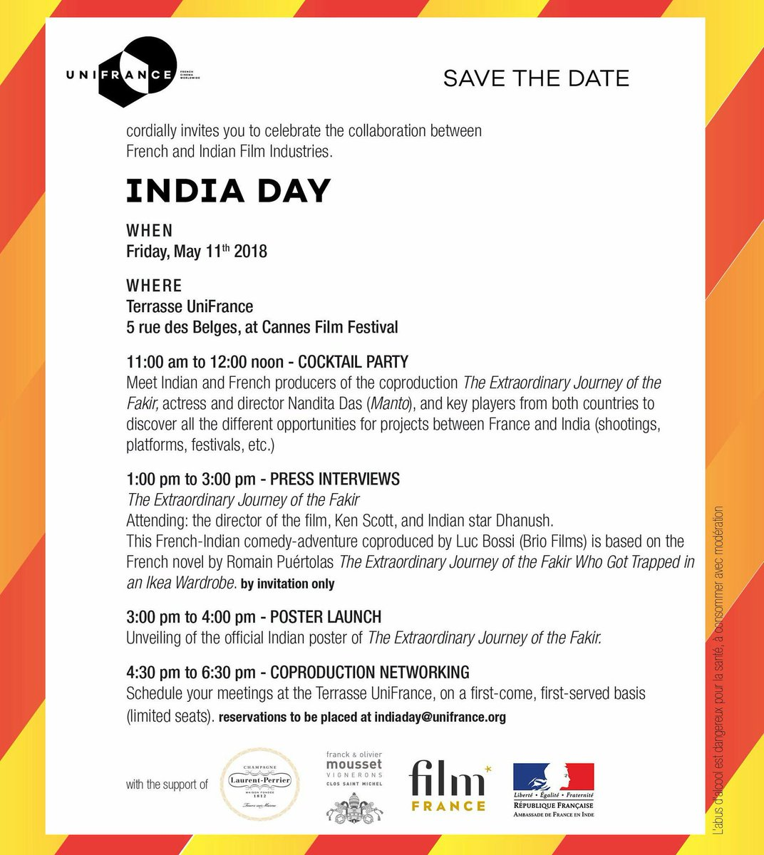 Terrasse Unifrance Cannes India Day At Cannes Film Festival 2018 5 Rue Des Belges Cannes