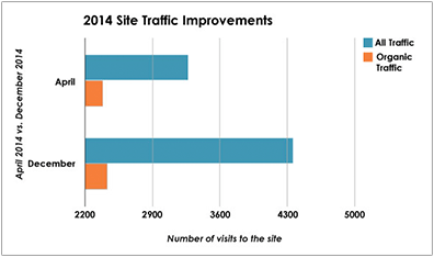 Dermatology Case Study - 2014 Site Traffic Improvements - Search Influence