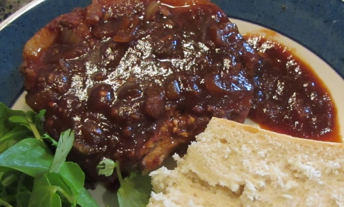 pork chop and barbecue sauce(500x301)