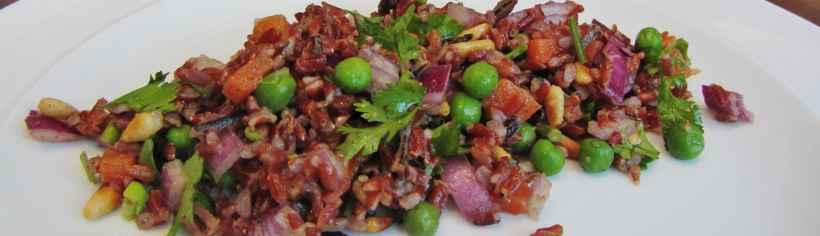 wild rice and pea salad