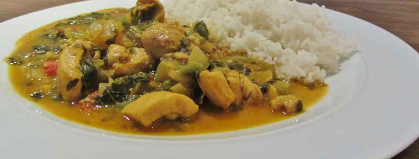 Caribbean Chicken and Callaloo curry