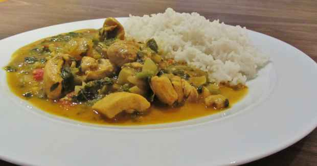 Chicken and Callaloo Curry