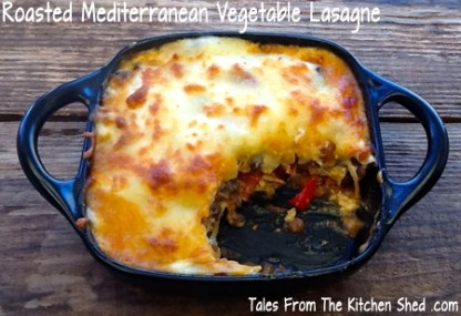 roasted vegetable mediterranean lasagna