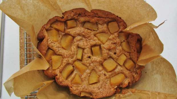 slow cooker apple and cinnamon cake