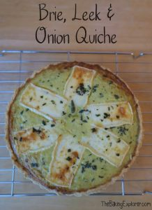 brie leek and onion quiche