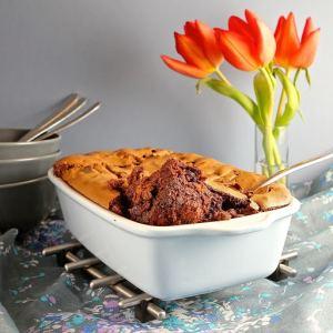 gluten free hot cross bun chocolate pudding