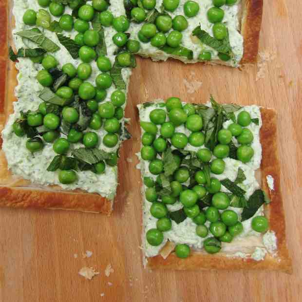 Ricotta and Pea Tart