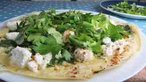 Twarog & celery leaf frittata