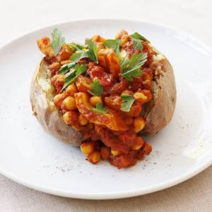 baked potato and chickpea stew