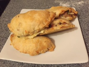 chicken and ham picnic pasties