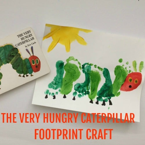 Toddler Years Meaning The Very Hungry Caterpillar Footprint Craft