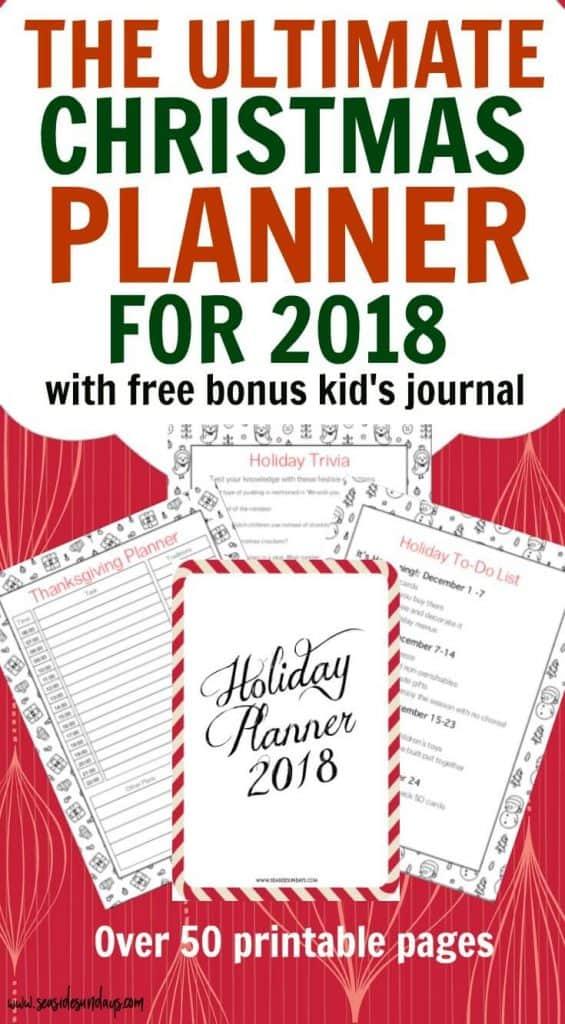 The Ultimate 2018 Printable Christmas Planner