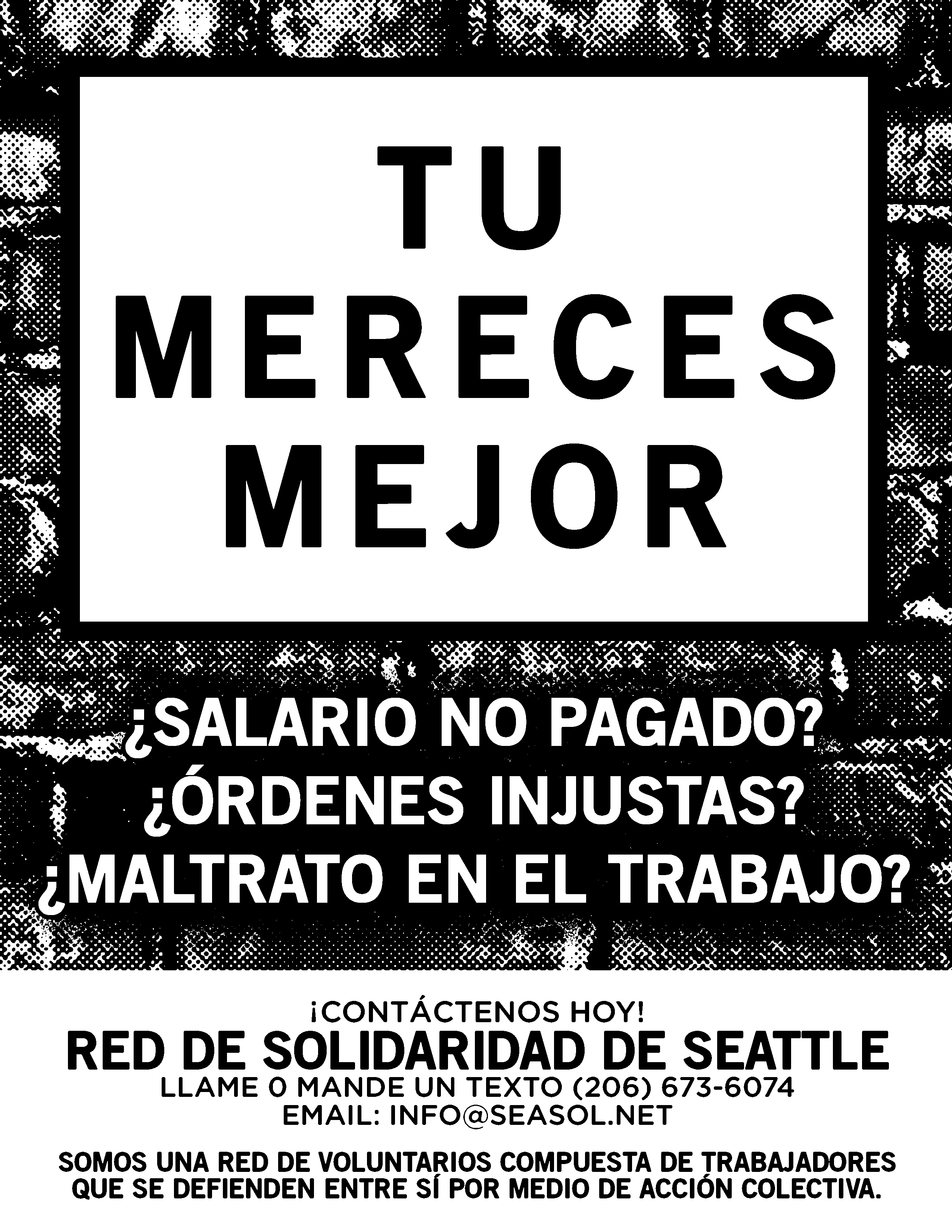 Poster In Spanish Seattle Solidarity Network Posters Flyers