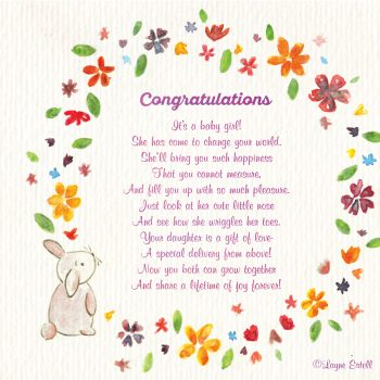 Congratulations, it\u0027s a baby girl! \u2013 Seasonal words with Layne Estell
