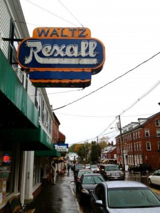 Main Street in Damariscotta Maine. Waltz Rexall