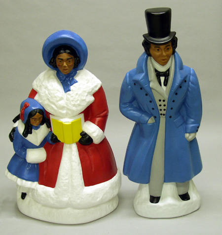 African American Victorian Dickens Carolers Christmas Decorations - christmas carolers decorations
