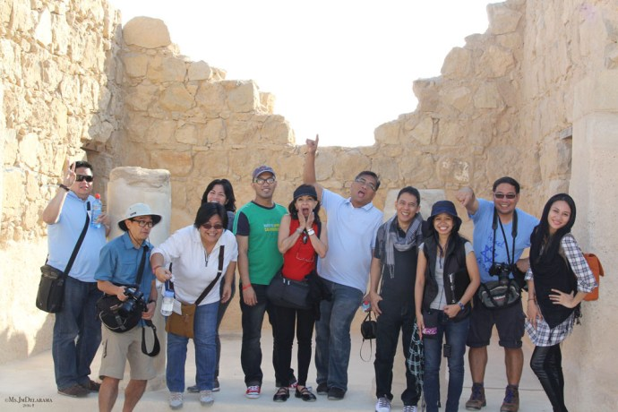 Group Photo in Masada travel Israel