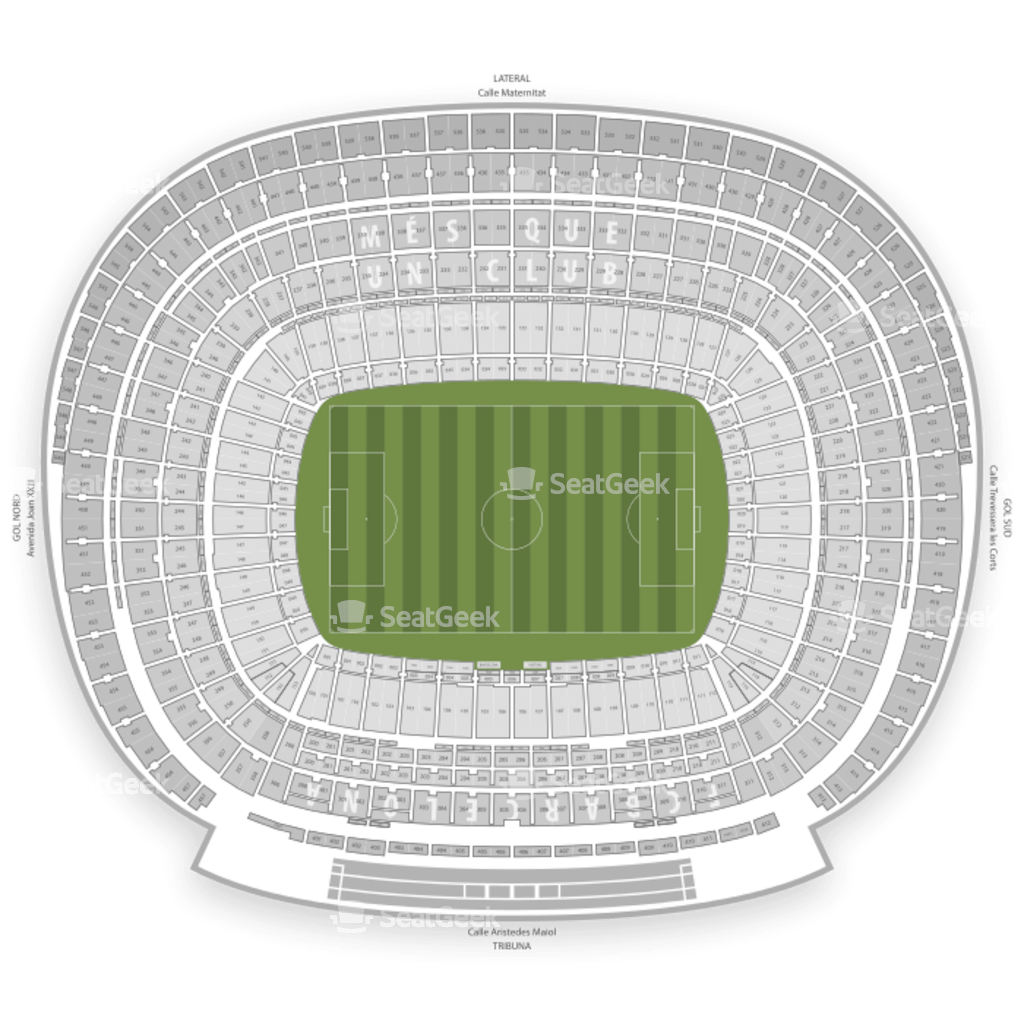 Mapa Asientos Camp Nou Camp Nou Seating Chart Map Seatgeek