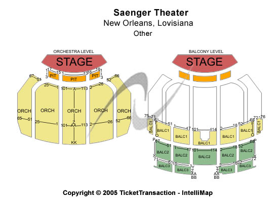 Saenger Theater Biloxi Seating Chart Awesome Home