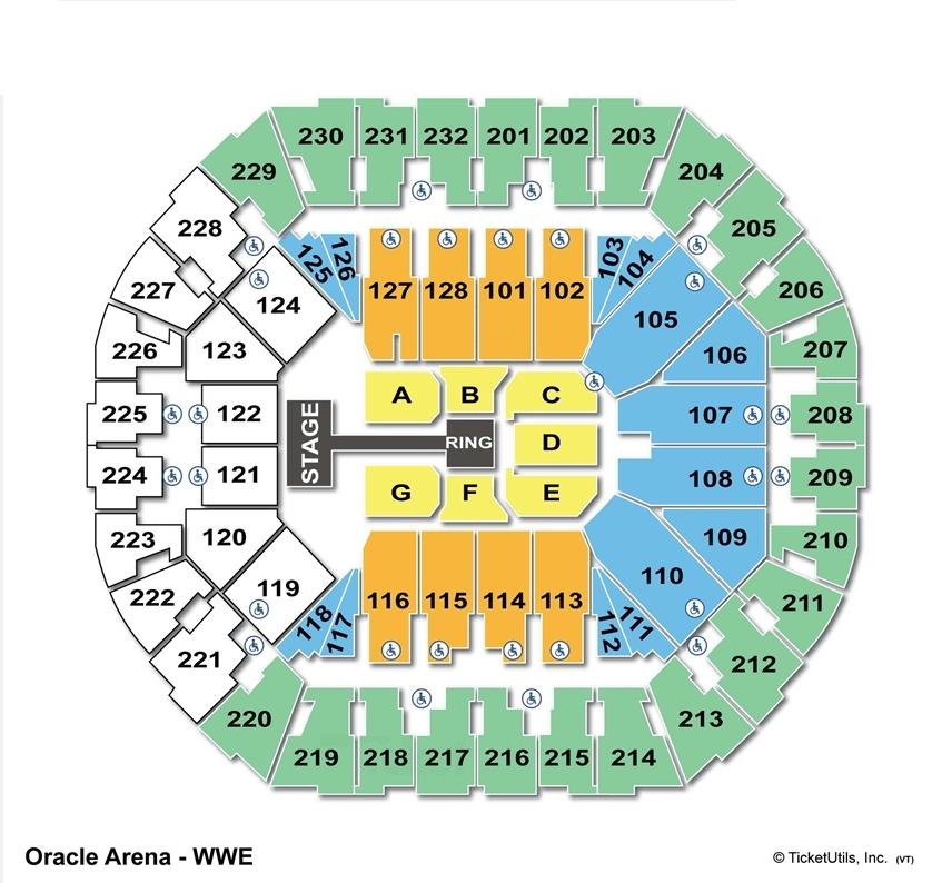 Oracle Arena Seating Diagram Diagrams Auto Parts Catalog