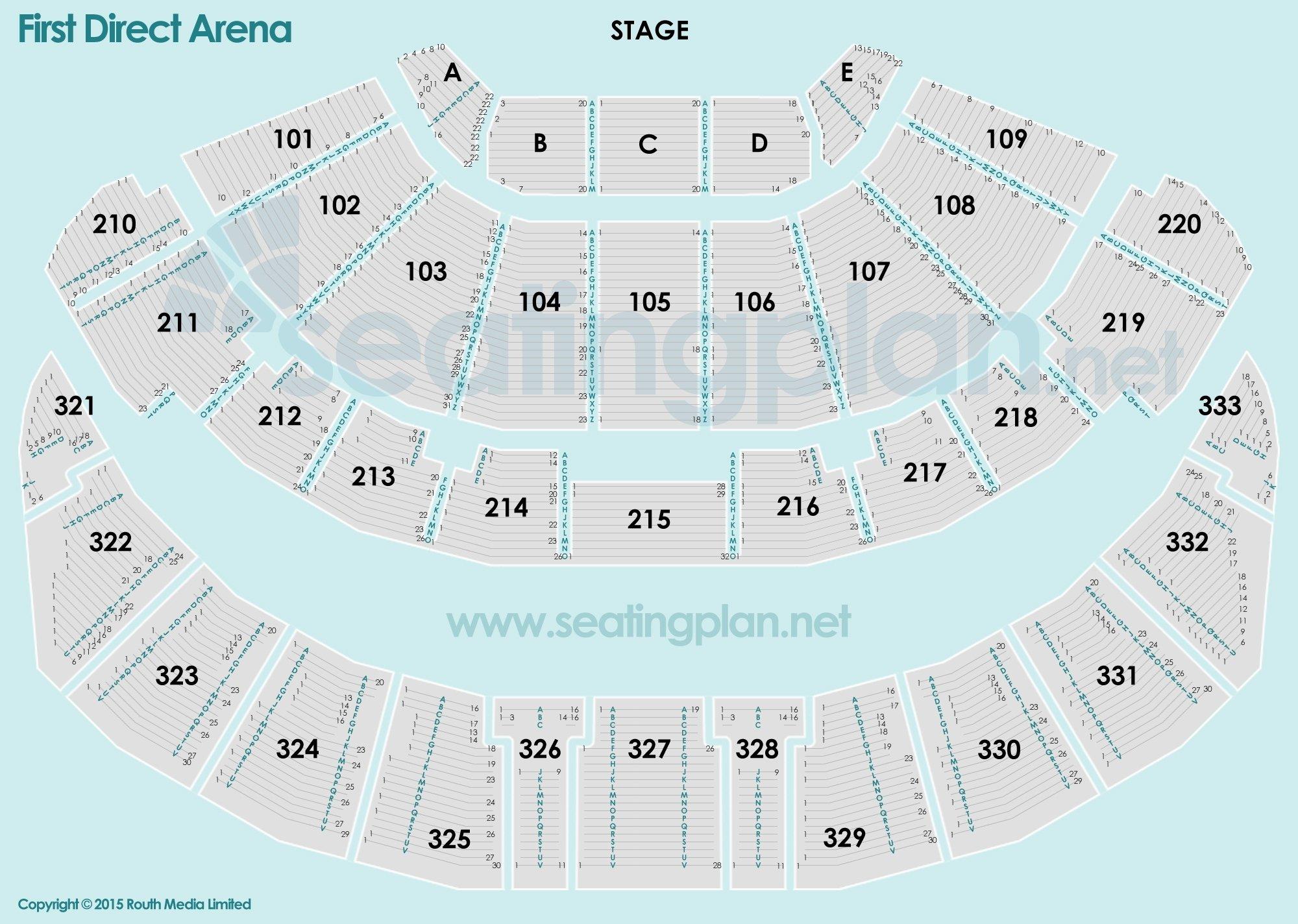 First Direct Arena Leeds Seating Plan