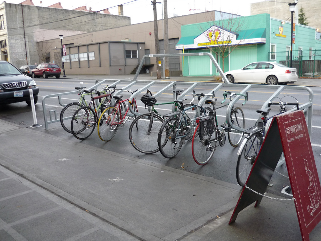 Parking Garage Bike Rack Bike Racks Parking Transportation Seattle Gov